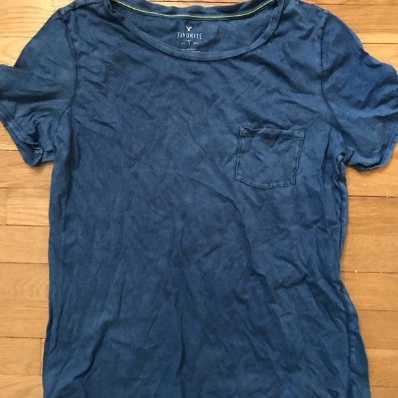 c7f4e84c American Eagle Outfitters Tops - AMERICAN EAGLE Blue Boyfriend T-Shirt with  Pocket